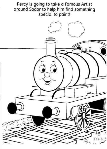 Percy From Thomas The Train Coloring Pages