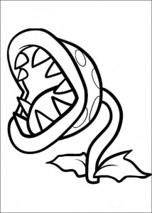 Plant Vs Zombies Chomper Coloring Page