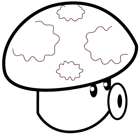 Plants vs Zombies Coloring Pages Puff Shroom