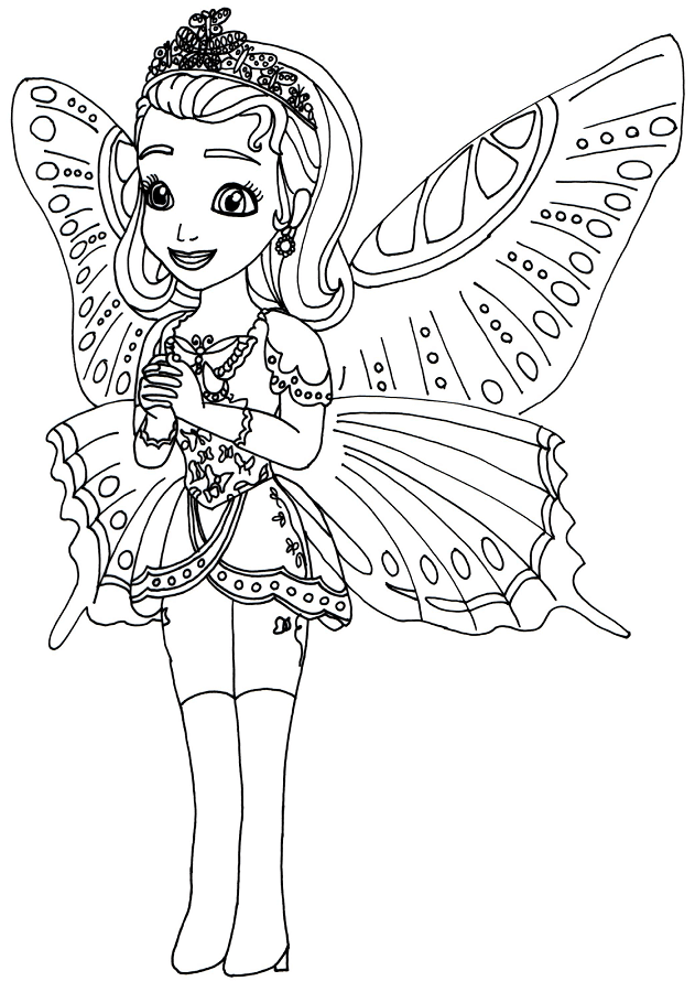 Princess Amber Coloring Page