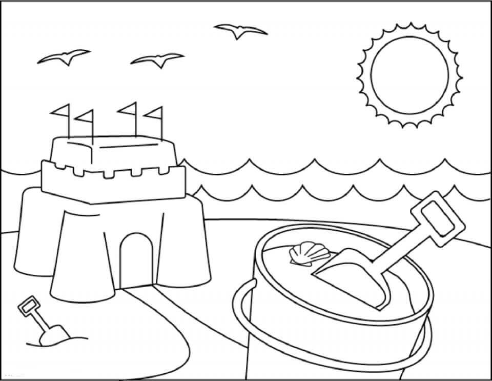 Beach Coloring Pages - Beach Scenes & Activities | 743x960