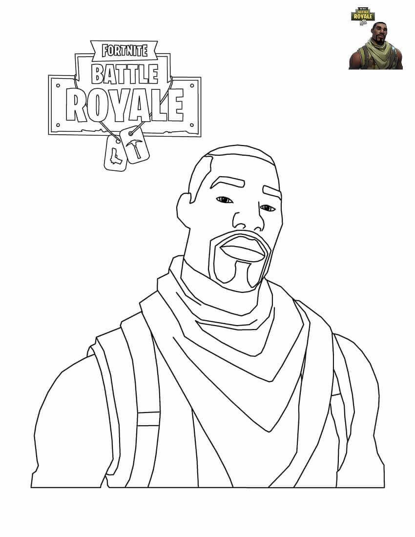Fortnite Commando Coloring Page Printable Pages View And Print Full Size