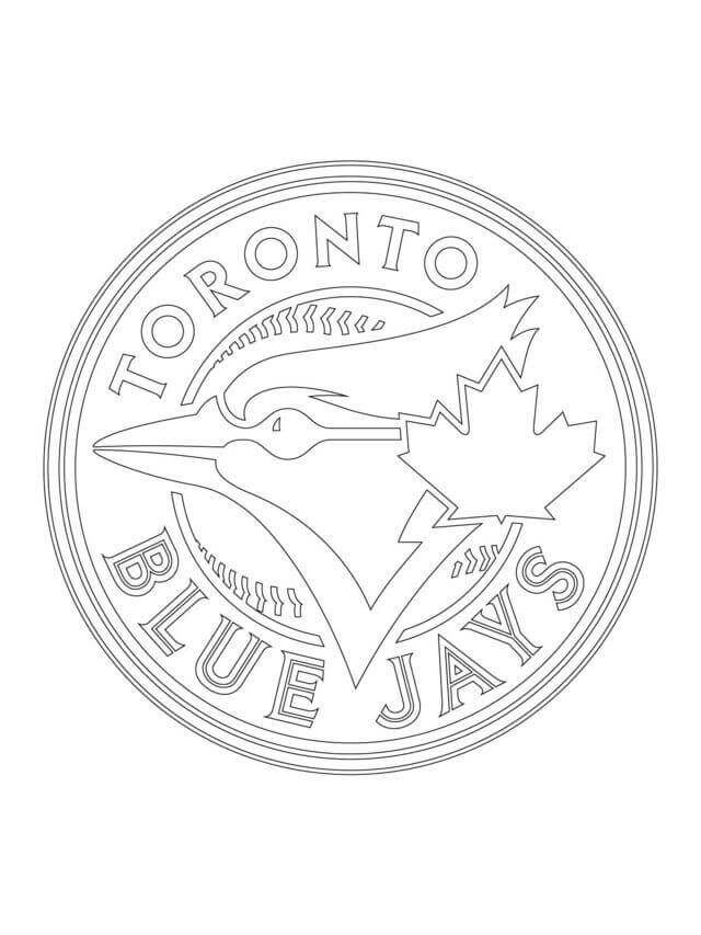 Printable MLB Coloring Book Toronto Blue Jays