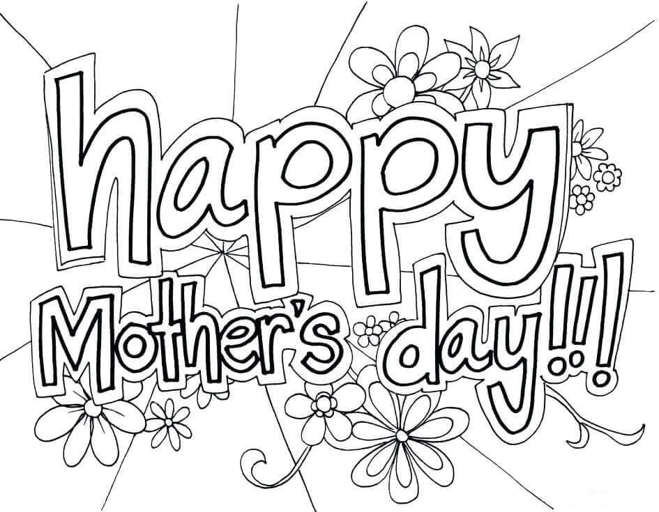 Printable May Coloring Pages Mothers Day