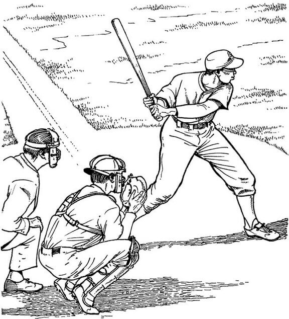 Realistic Baseball Coloring Pages