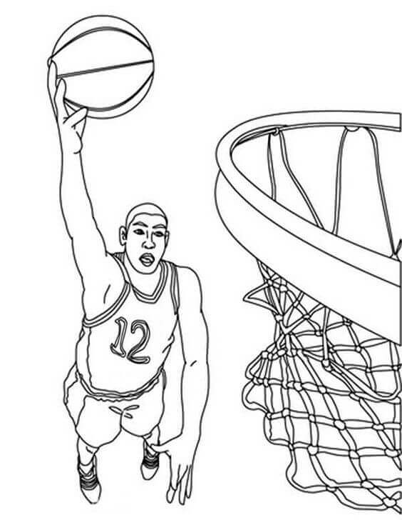 Realistic Basketball Coloring Pages