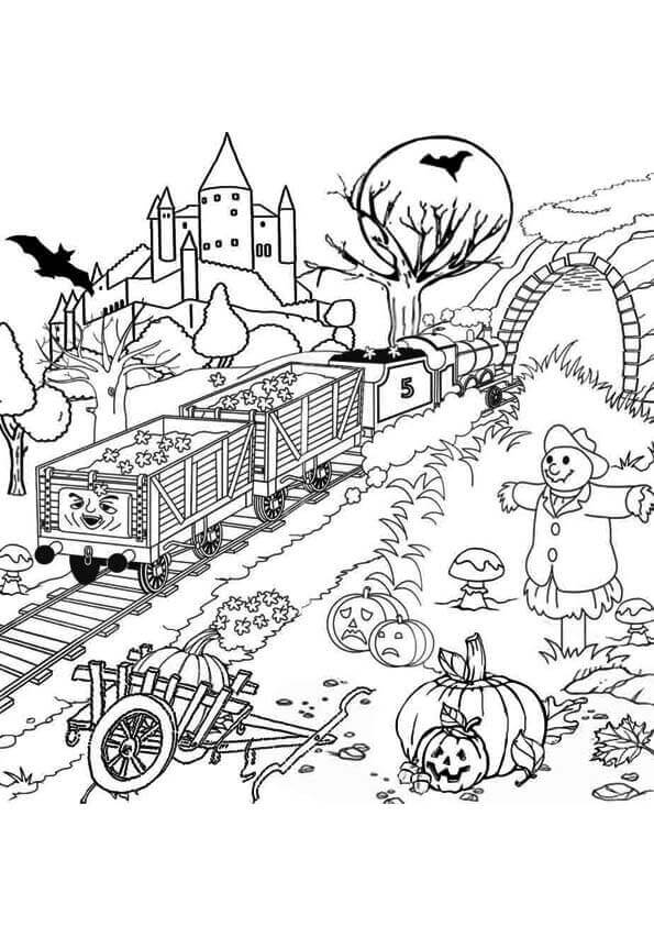 S C Ruffy From Thomas The Train Coloring Pages
