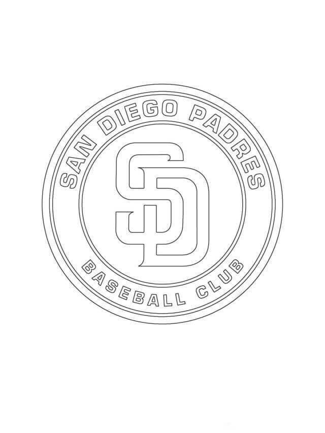 San Diego Padres MLB Coloring Pages Printable