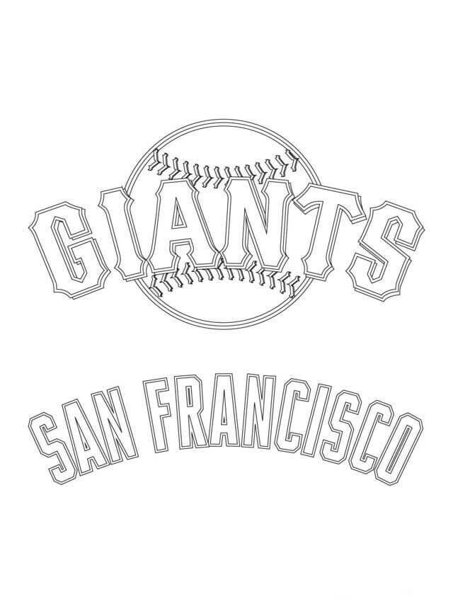 San Francisco Giants Logo MLB Coloring Pages Free Printable