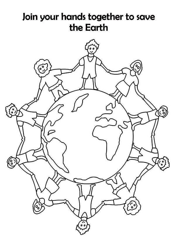 Save The Earth Coloring Sheets To Print
