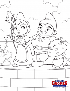 Sherlock Gnomes Coloring Pages Gnomeo and Juliet