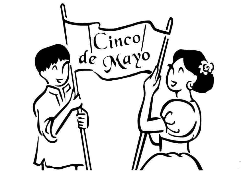 Simple Cinco De Mayo Coloring Pages