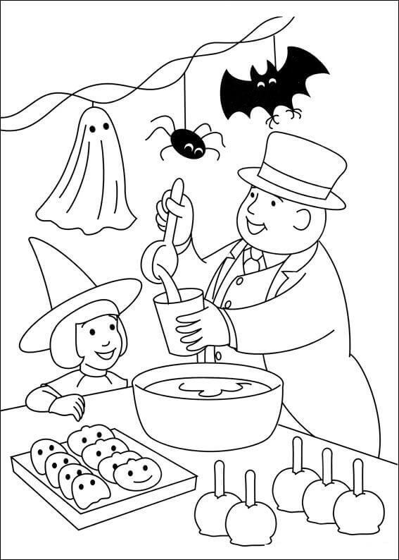 Sir Topham Hatt From Thomas The Train Coloring Pages