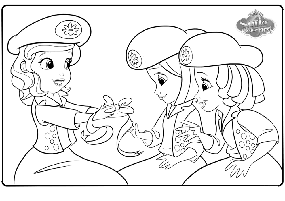 Sofia And Buttercups Coloring Pages