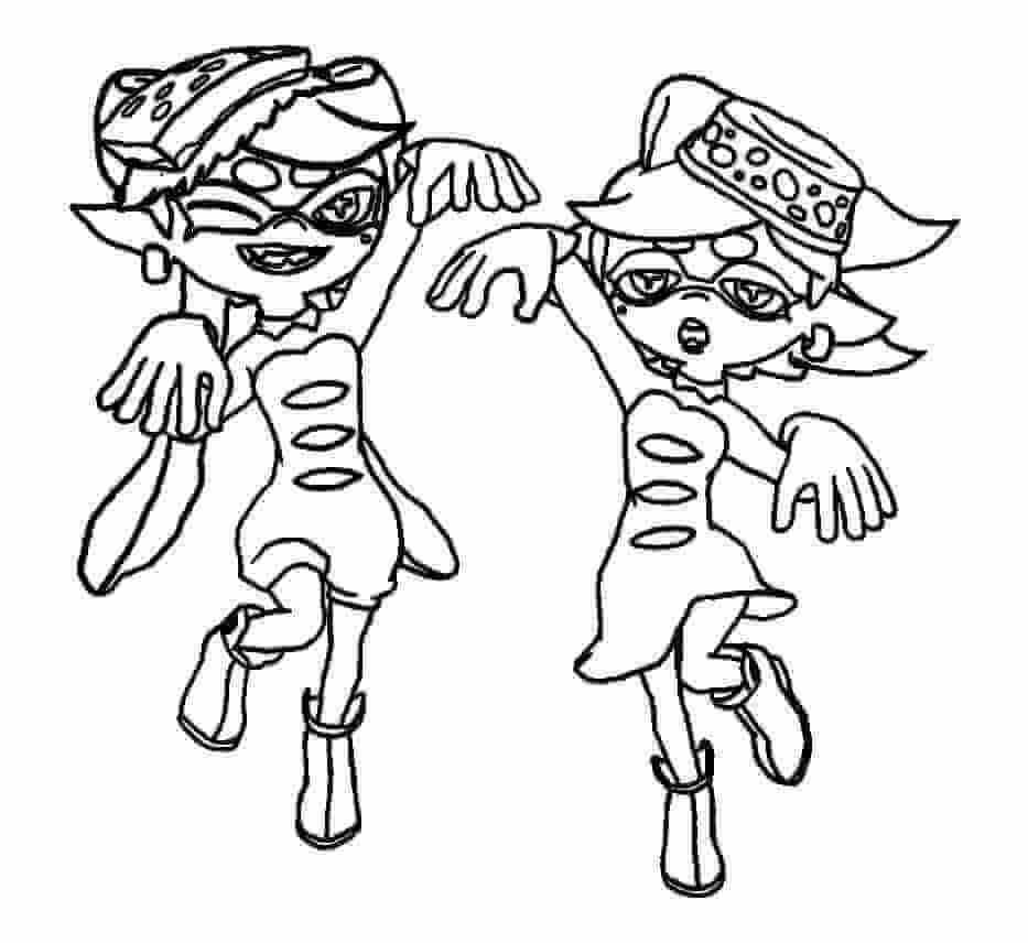 Splatoon Coloring Pages Squid Sisters