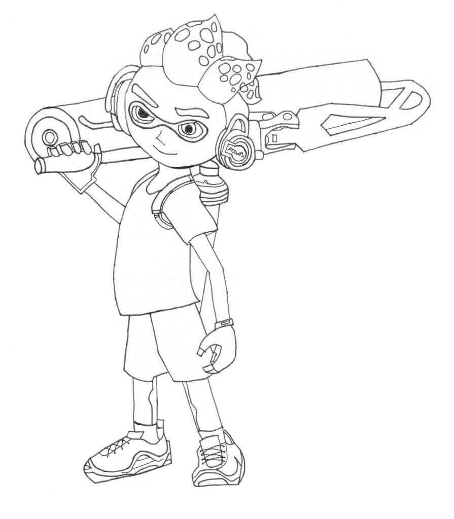 Splatoon Coloring Pages To Print
