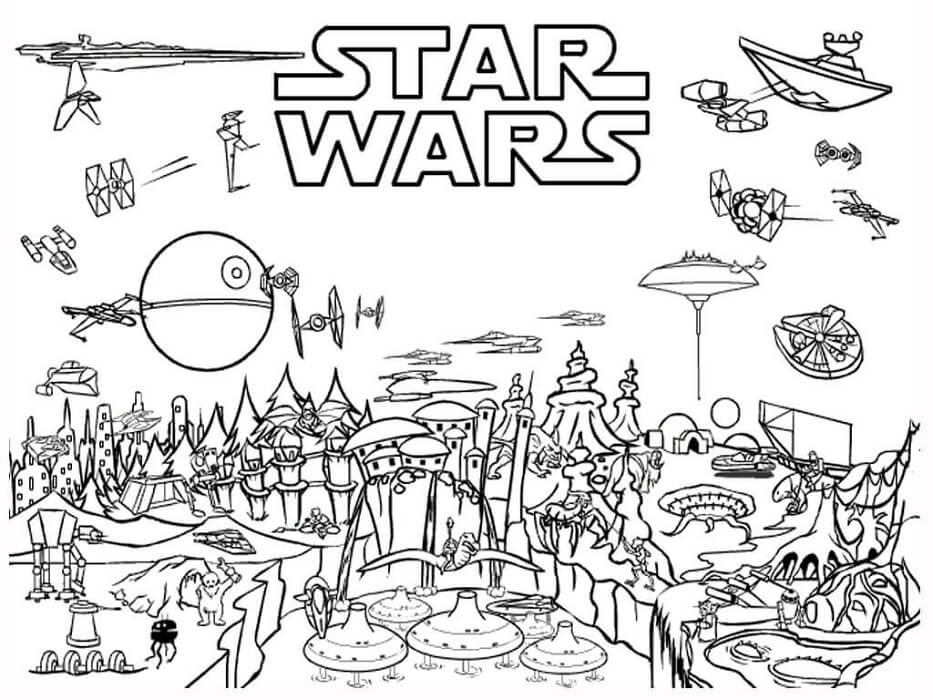 Star Wars Day Coloring Page