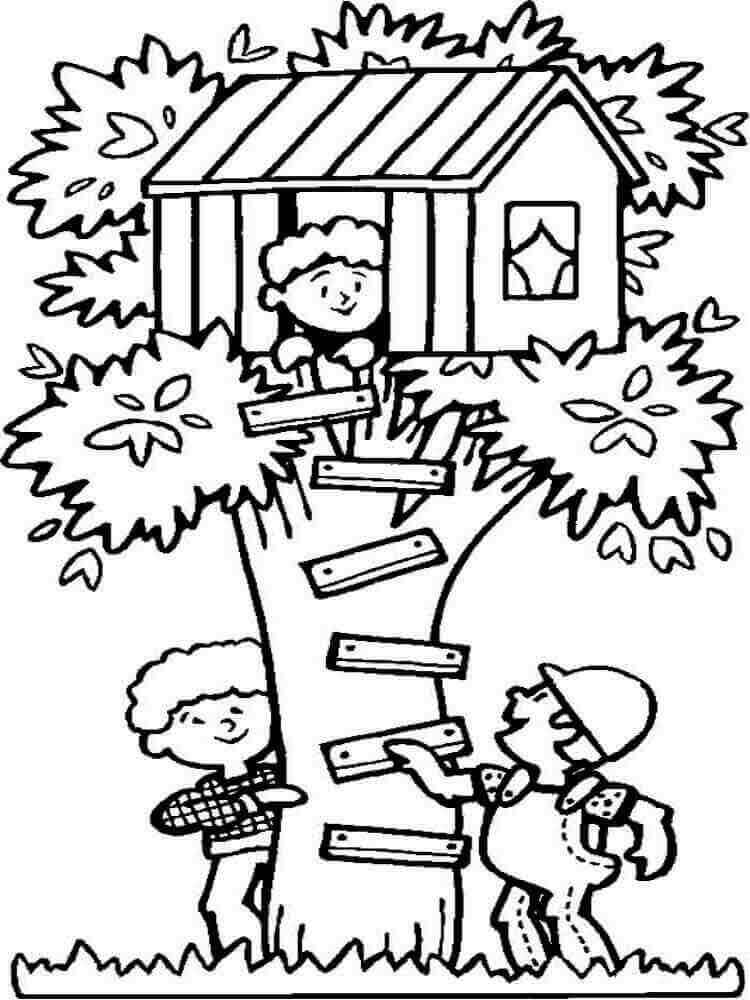 Summer Break Coloring Sheets