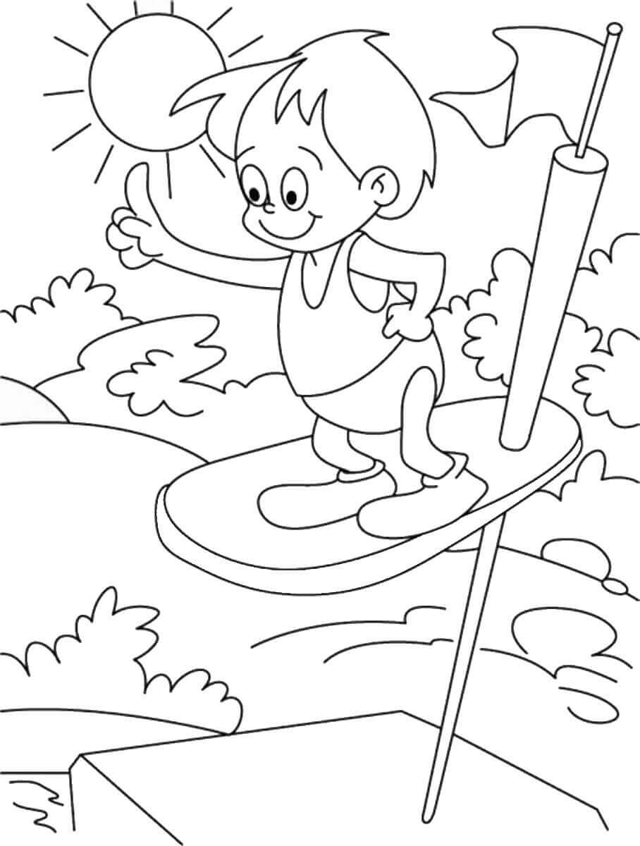 Summer Diving Coloring Pages