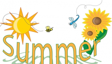 Summer coloring images for kids