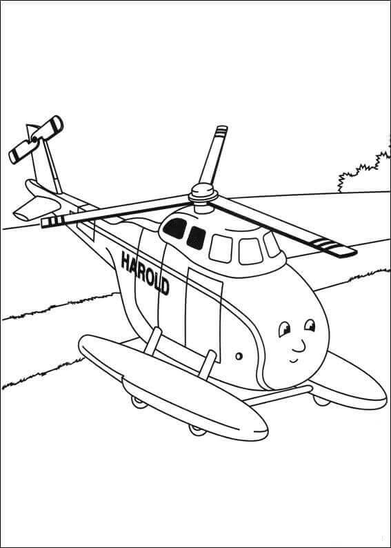 Thomas The Train Coloring Pages Harold