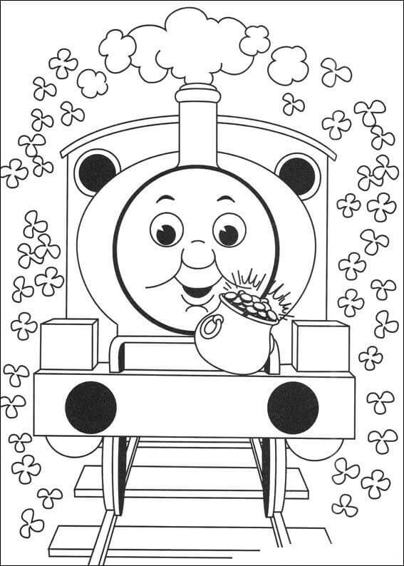 Thomas The Train Coloring Pages St Patricks Day