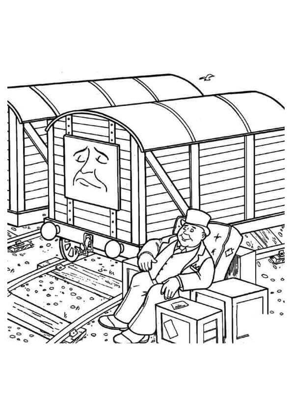 Thomas The Train Coloring Pages Toby