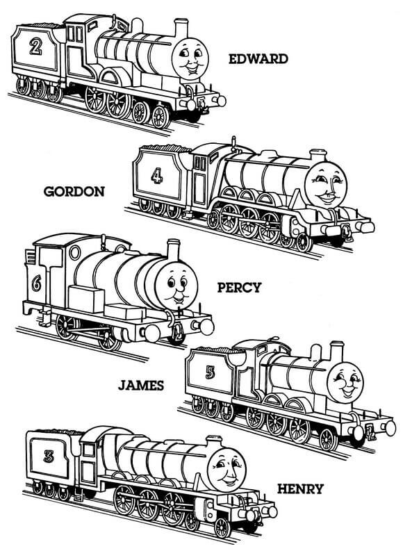 - 30 Free Printable Thomas The Train Coloring Pages