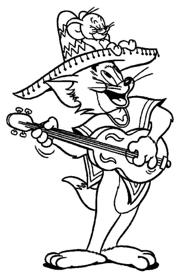 Tom And Jerry Cinco De Mayo Coloring Sheets