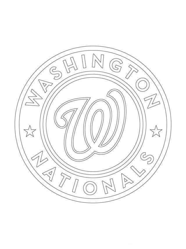Washington Nationals Logo MLB Coloring Pages Free Printable