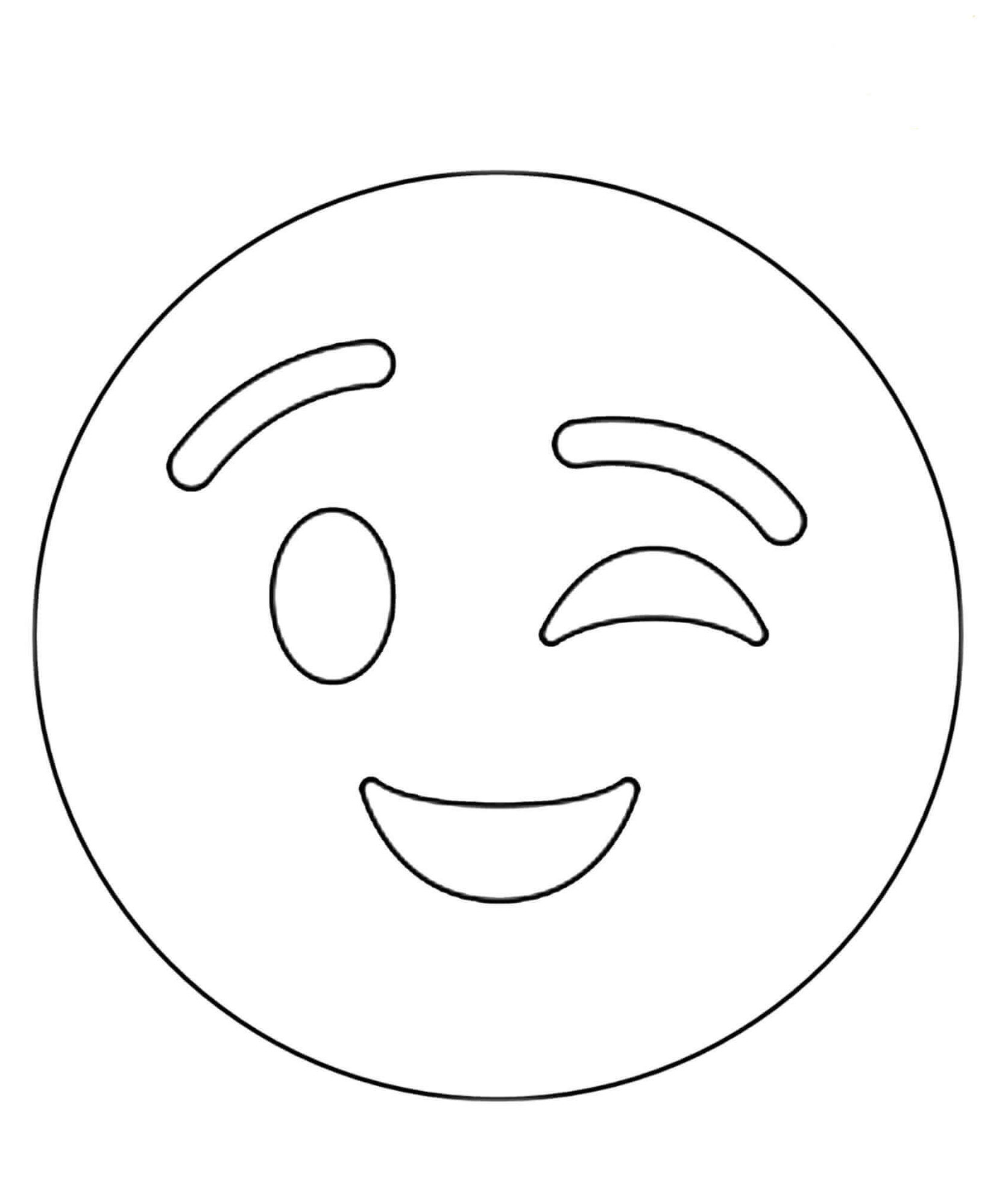 Wink Emoji Coloring Sheets To Print