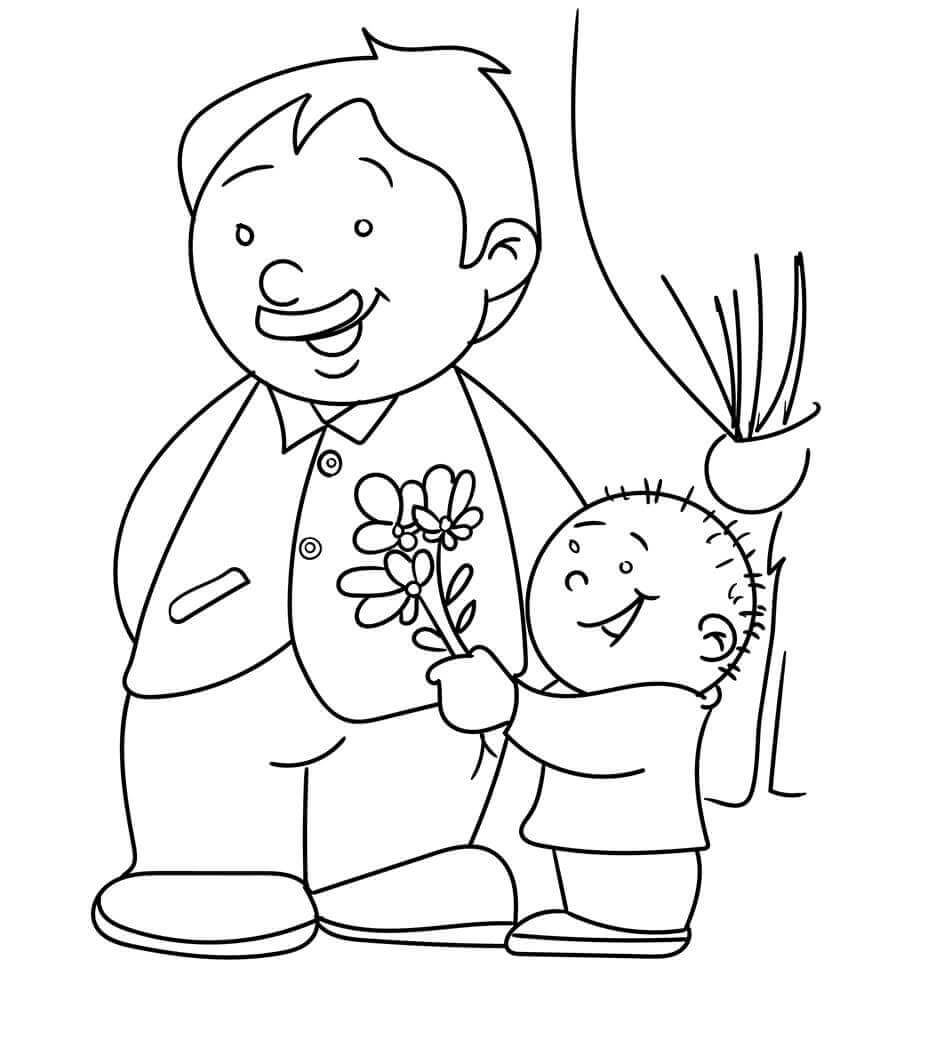 Worlds Best Dad Coloring Page