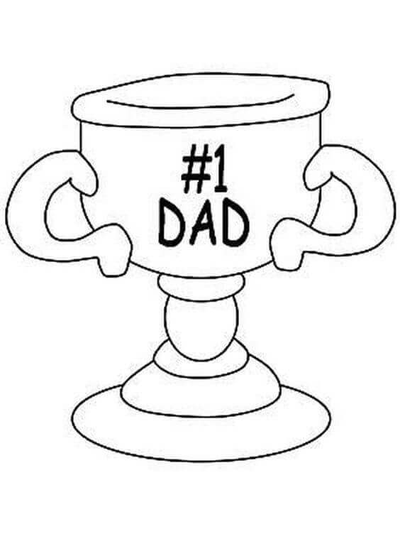 Worlds Best Dad Coloring Pages