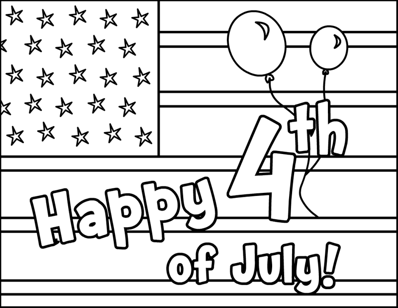 4th Of July 2018 Coloring Pages