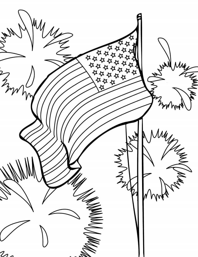 4th Of July Celebrations Coloring Pages