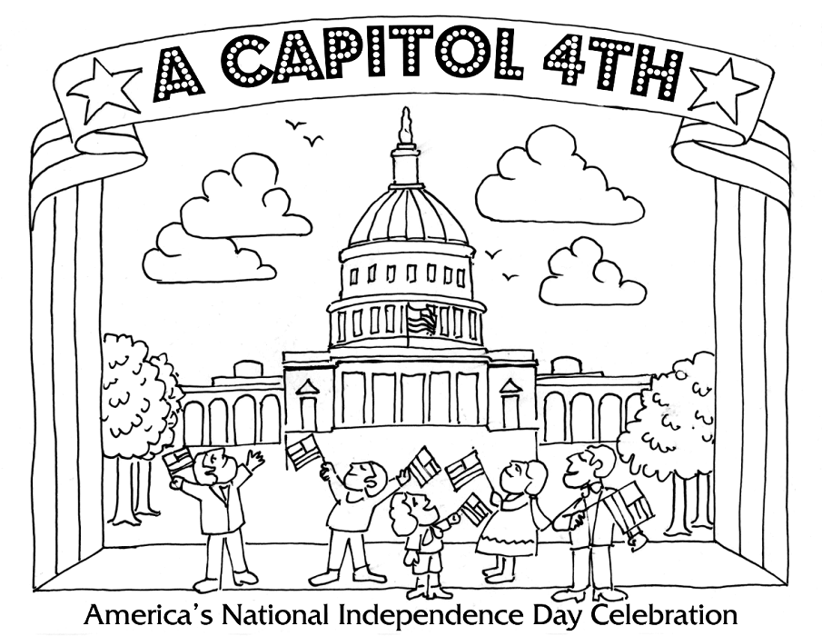 Americas National Independence Day Coloring Pages