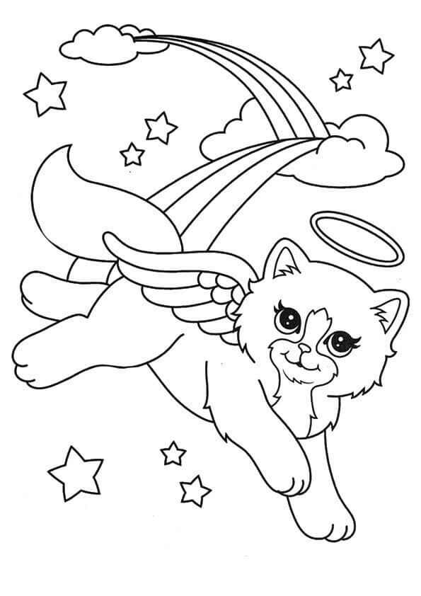 Angel Kitty Lisa Frank Coloring Images