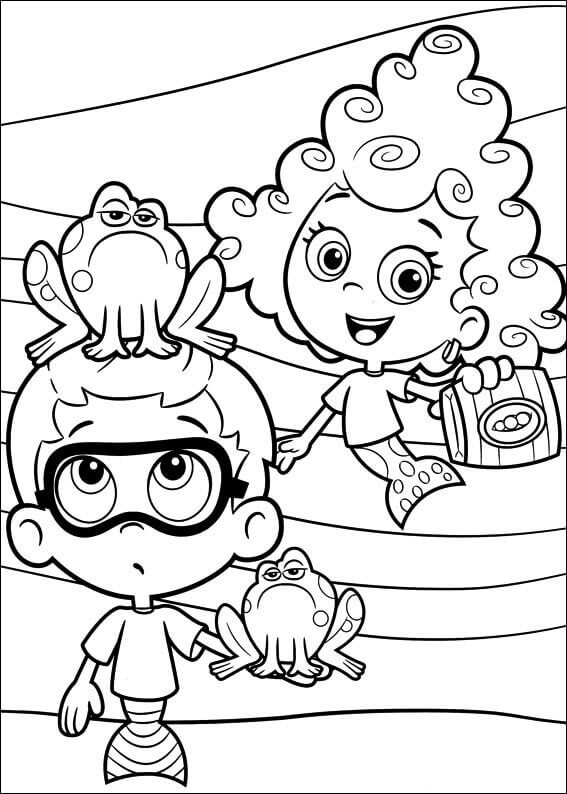 Bubble Guppies Coloring Images Nonny And Deepa