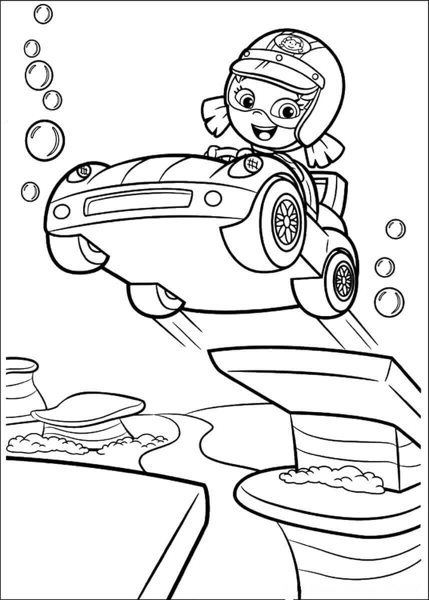Bubble Guppies Coloring Images Oona