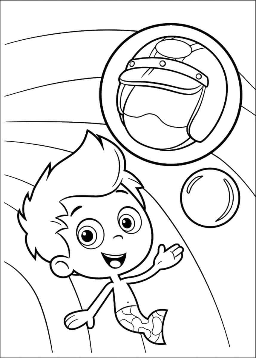 Bubble Guppies Coloring Pages Gil