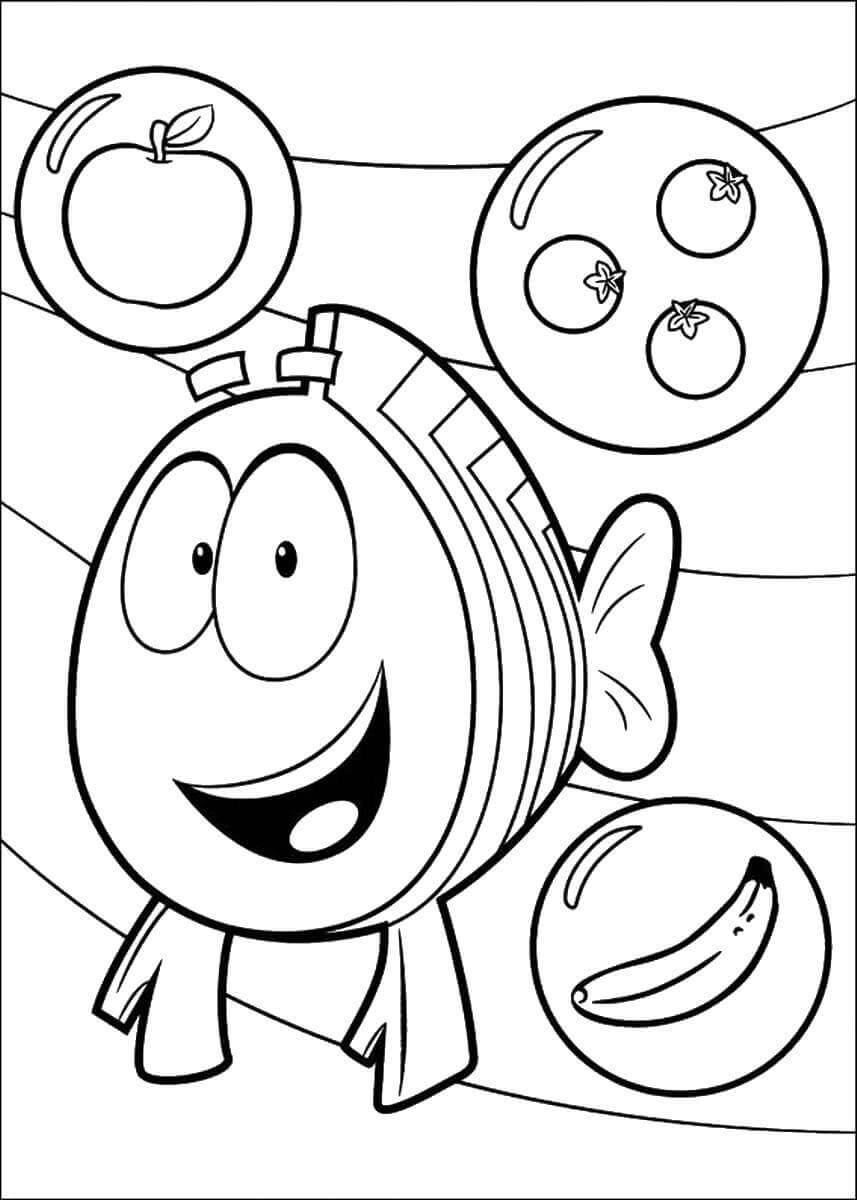 Bubble Guppies Coloring Pages Mr Grouper