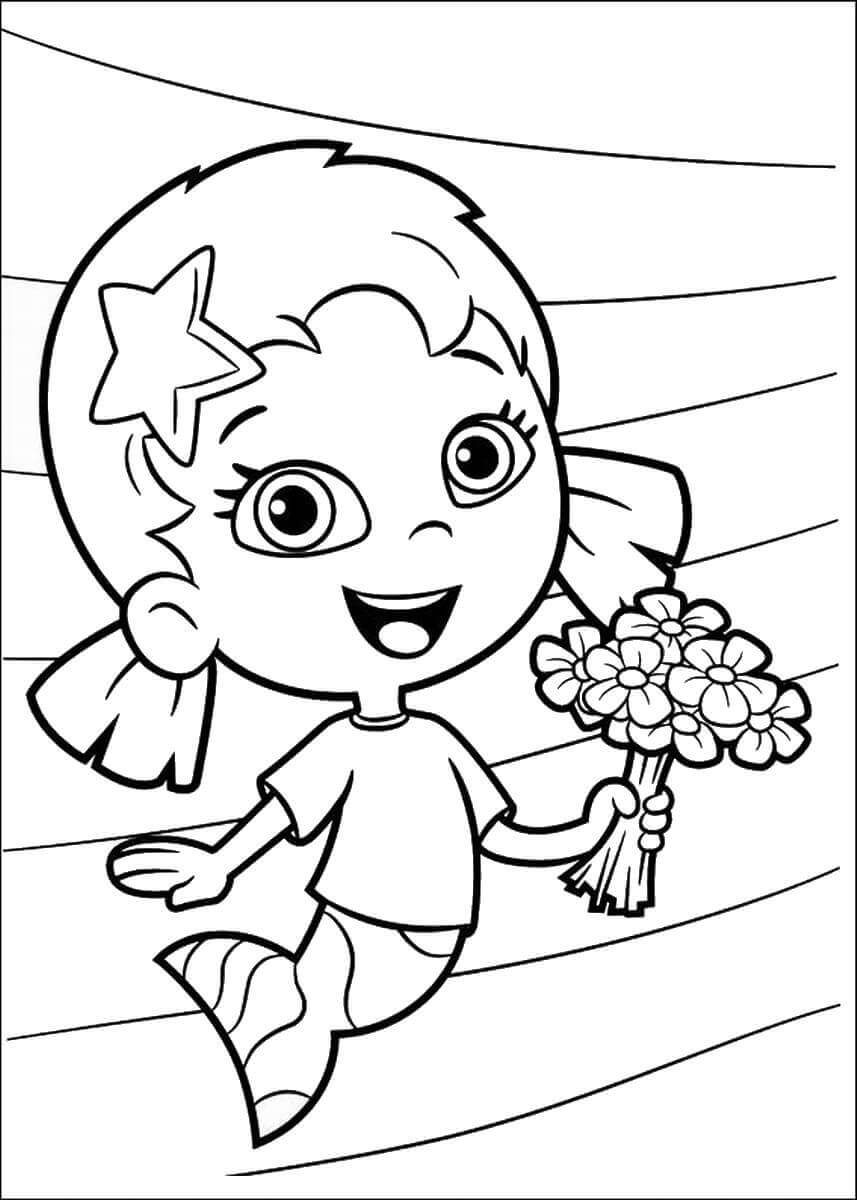 25 Free Printable Bubble Guppies Coloring Pages