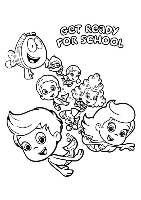 25 free printable bubble guppies coloring pages for Bubble guppies coloring pages