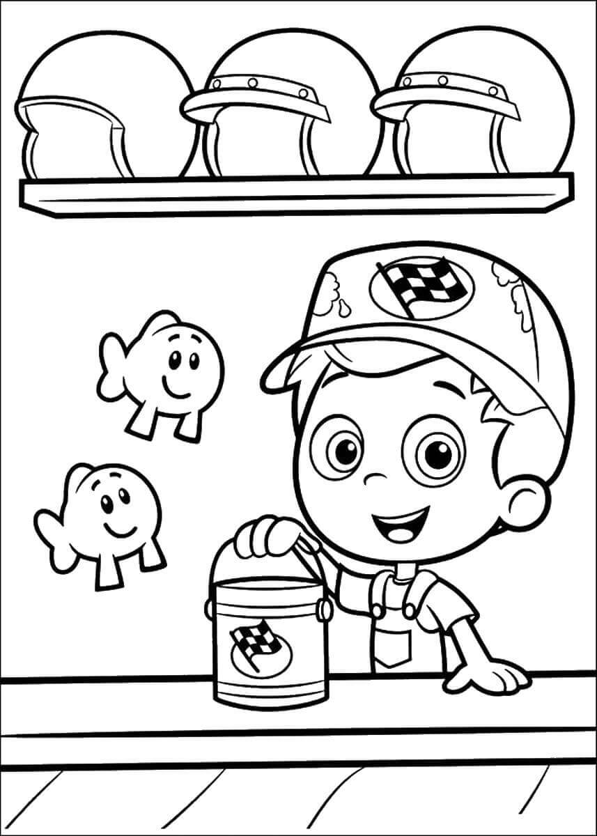 Bubble Guppies Coloring Pictures Gil