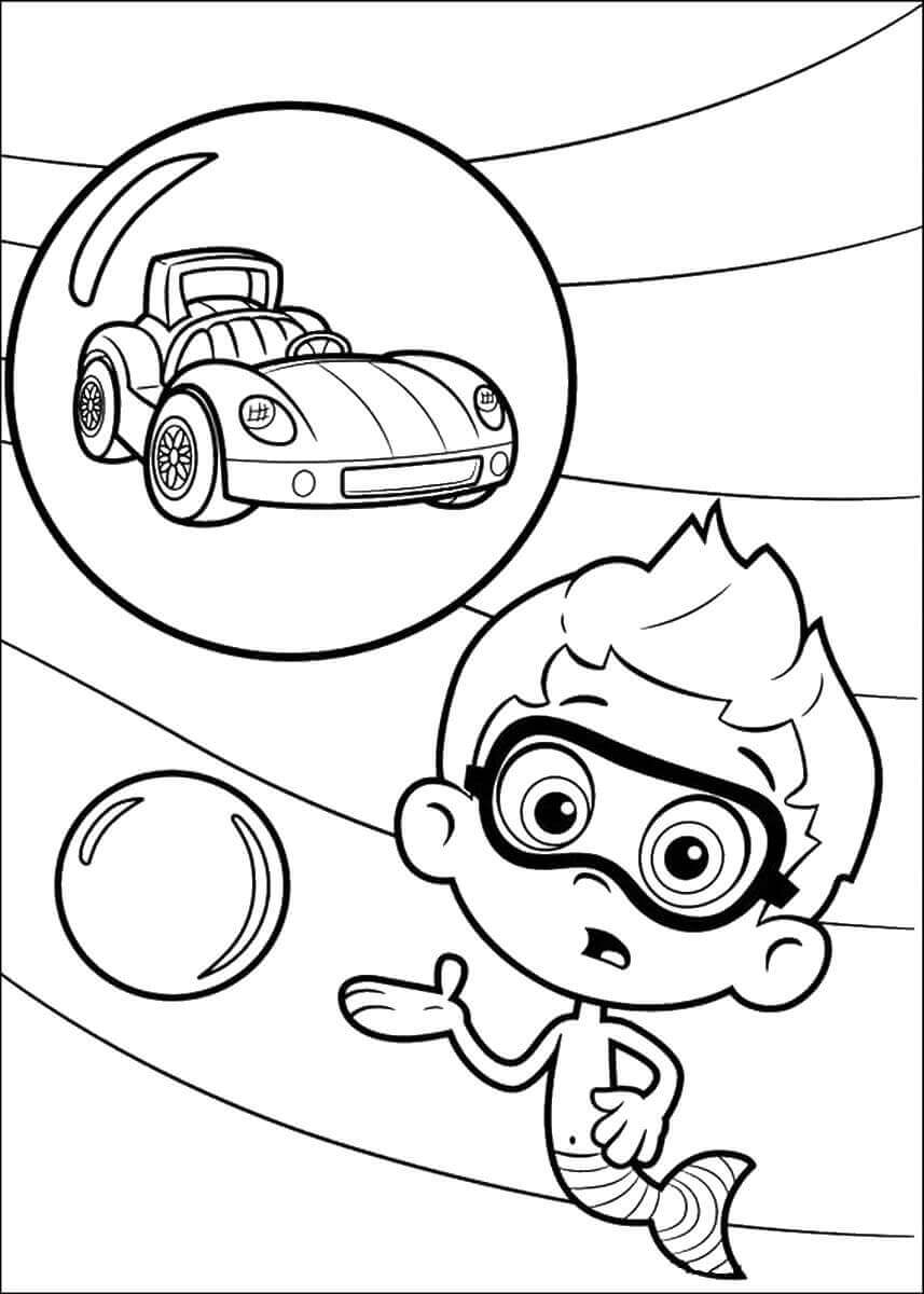 Bubble Guppies Coloring Pictures Nonny