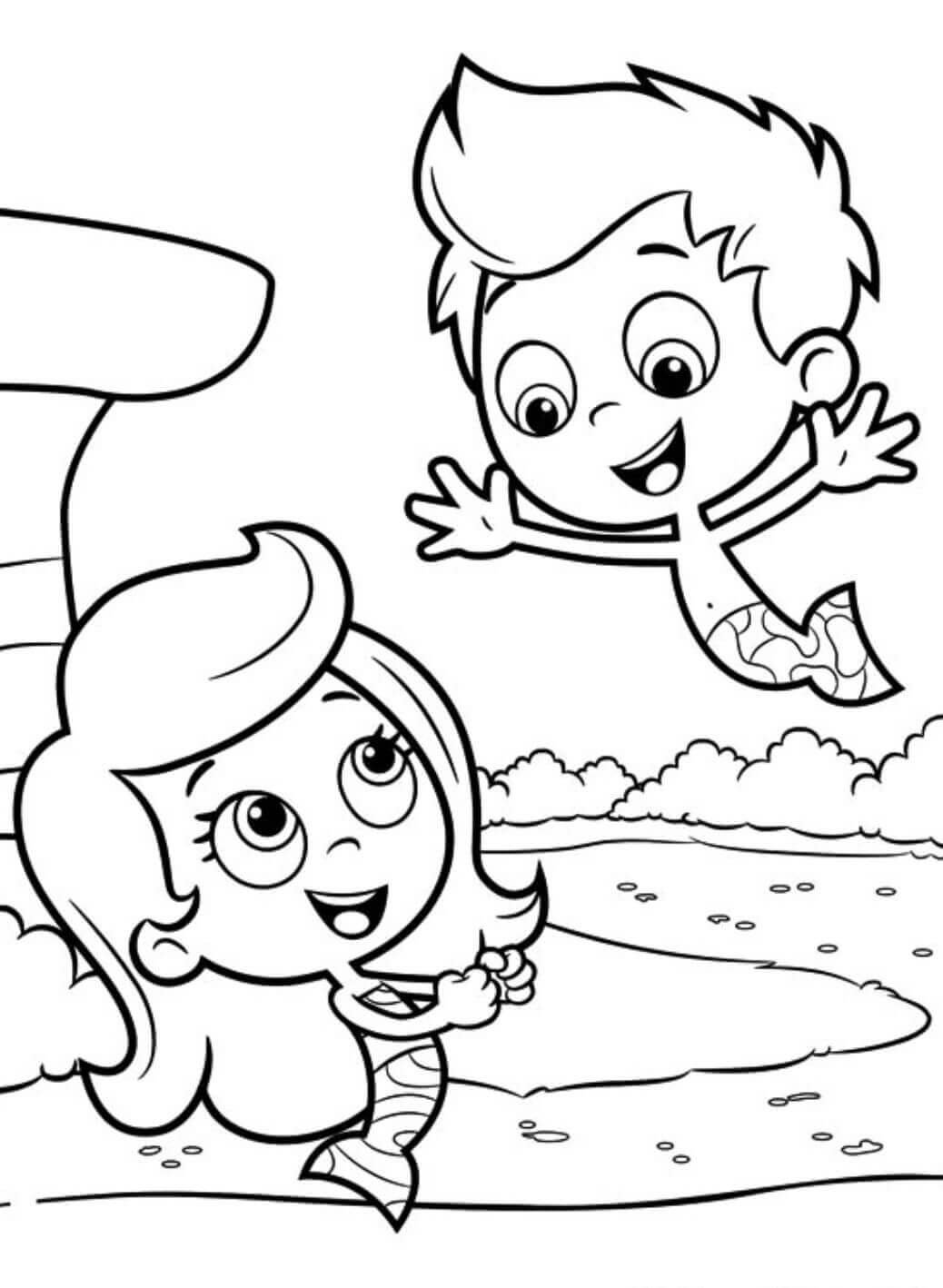 Bubble Guppies Coloring Sheets Molly And Gil