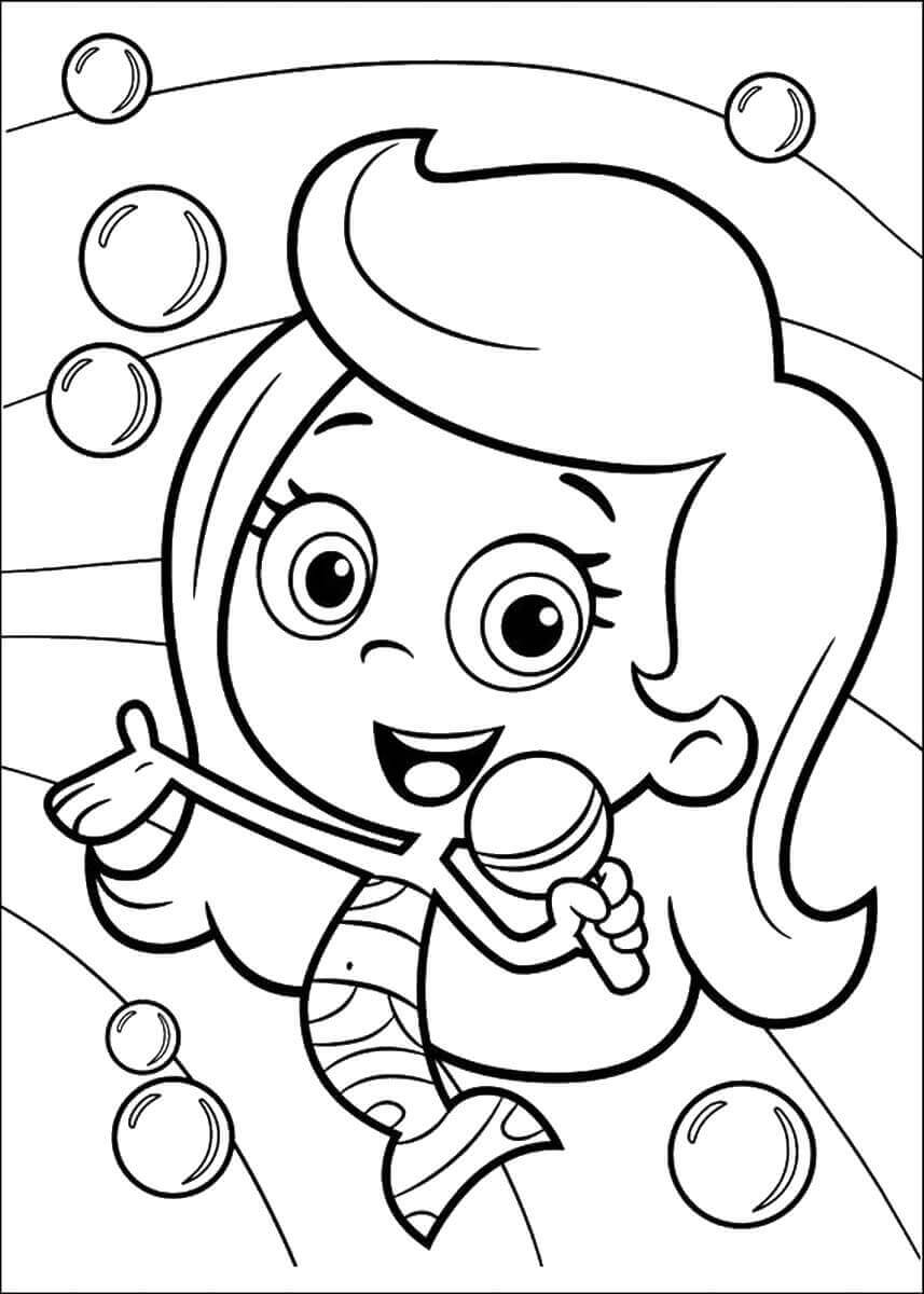 Bubble Guppies Coloring Sheets Molly