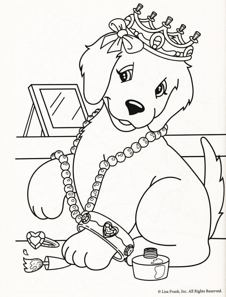 Caymus Lisa Frank Coloring Sheet