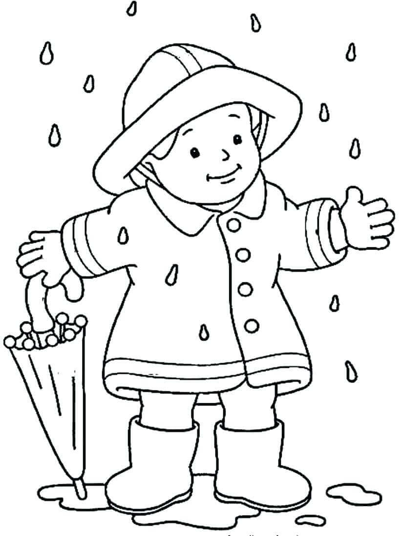 Coloring Pages Of Raining Season