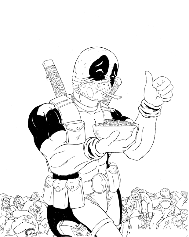 Cool Deadpool Coloring Pages To Print